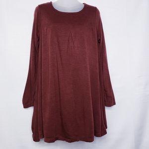 Ya Los Angeles Swing Sweater Dress Size Small Red